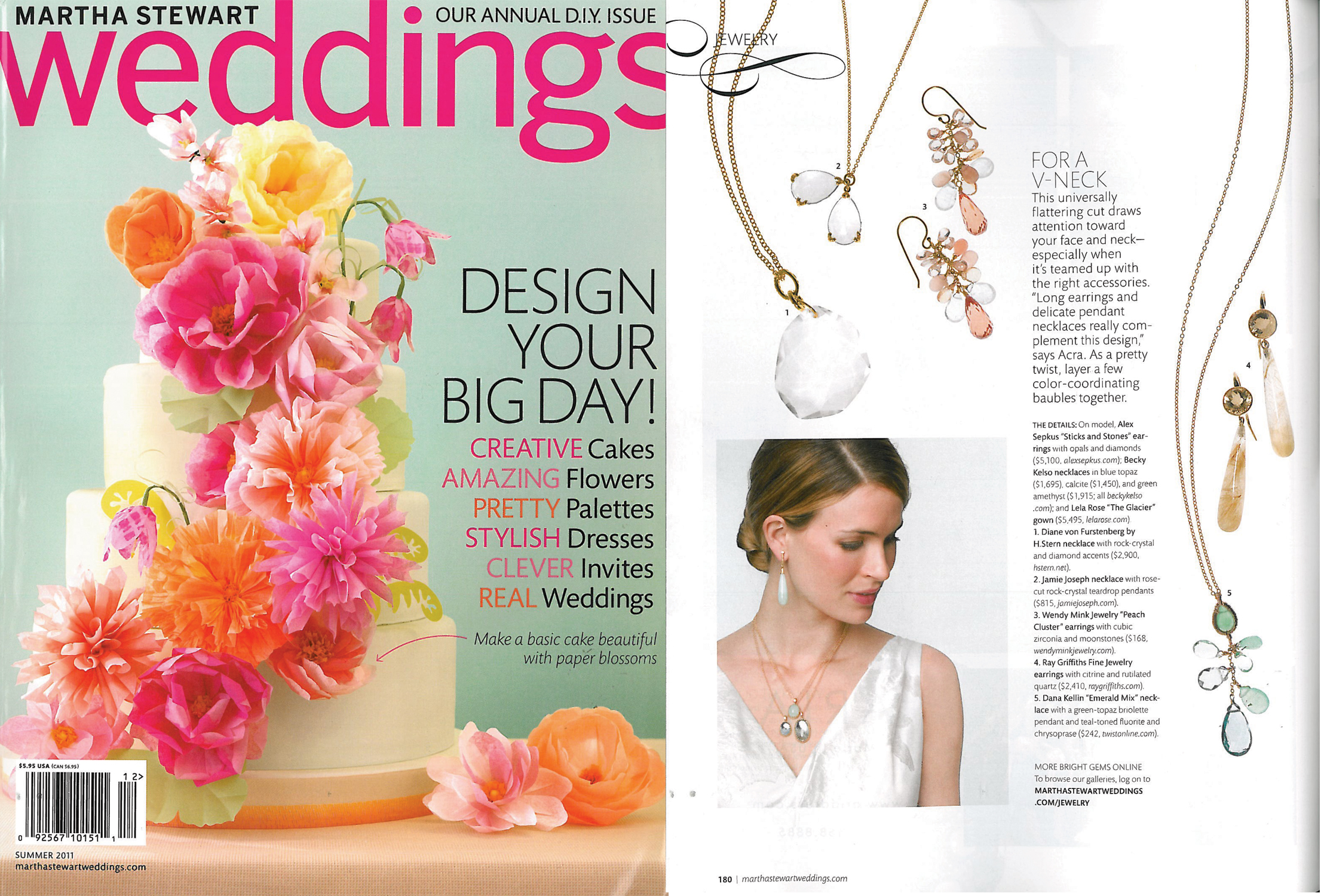 Martha Stewart Weddings: Ray Griffiths Fine Jewelry