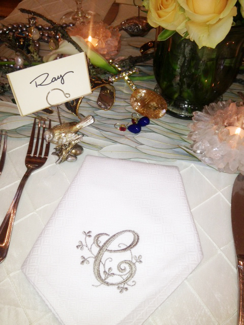 The table was strewn with jewels and gems
